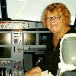 Sharon in an A320 (2)
